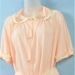 Vintage Pink Pajama Set with Slippers-NWT